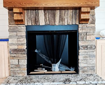 Fireplace Remodeling | Ceramic Tile Flooring Installation